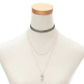 Marble Stone Necklace Set,