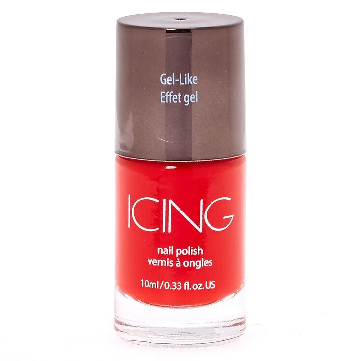 Gel-Like Red Nail Polish,