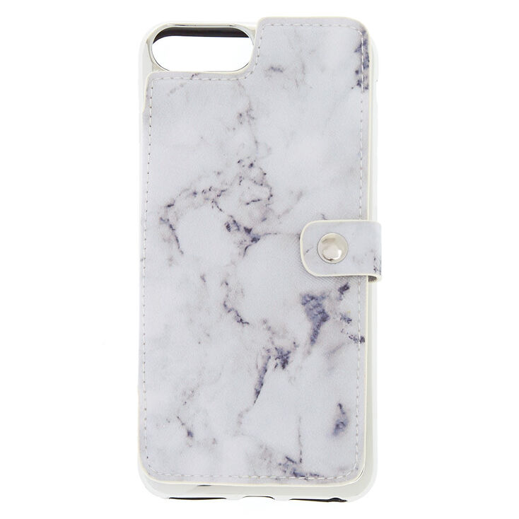 Marble Card Holder Phone Case - Fits iPhone 6/7/8 Plus,
