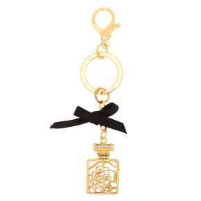 Perfume Bottle Keychain - Gold,