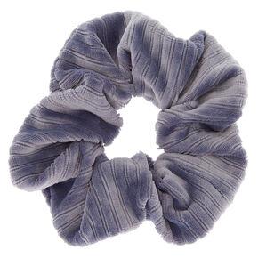 Ribbed Velvet Hair Scrunchie - Blue,