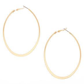 Gold 80MM Oval Hoop Earrings,
