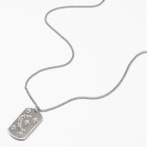 Silver Crystal Celestial Pendant Necklace,