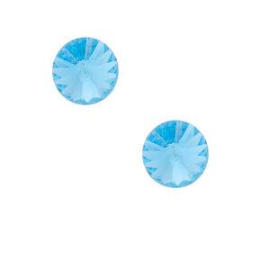 Sterling Silver Swarovski© Elements Stud Earrings - Baby Blue,