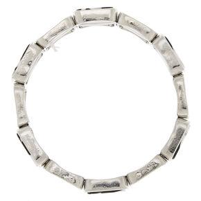 Black & White Resin Square Stretch Bracelet,