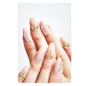 Gold & Clear Nail Gems,