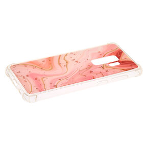 Marble Rose Gold Flake Phone Case - Fits Samsung Galaxy S9 Plus,