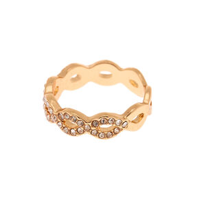 Gold Embellished Woven Ring,
