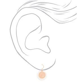 Mixed Metal Filigree Layered Drop Earrings - 3 Pack,