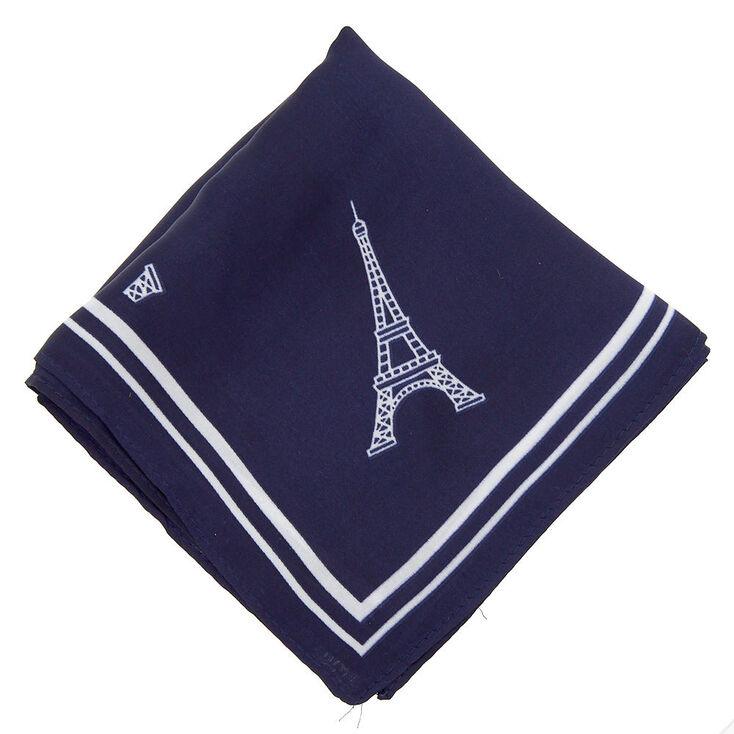 Paris Fashion Neck Scarf - Navy,