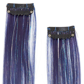 Glitter Lurex Faux Ombre Hair Extensions - Gray,
