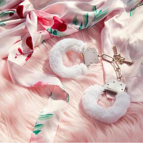 Fuzzy Handcuffs - White,