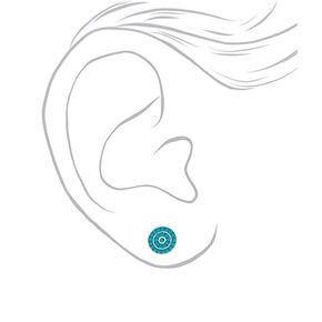 Mixed Metal Island Love Stud Earrings - 6 Pack,