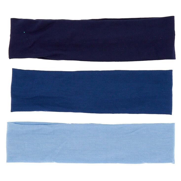 Ocean Tone Headwraps - Blue, 3 Pack,