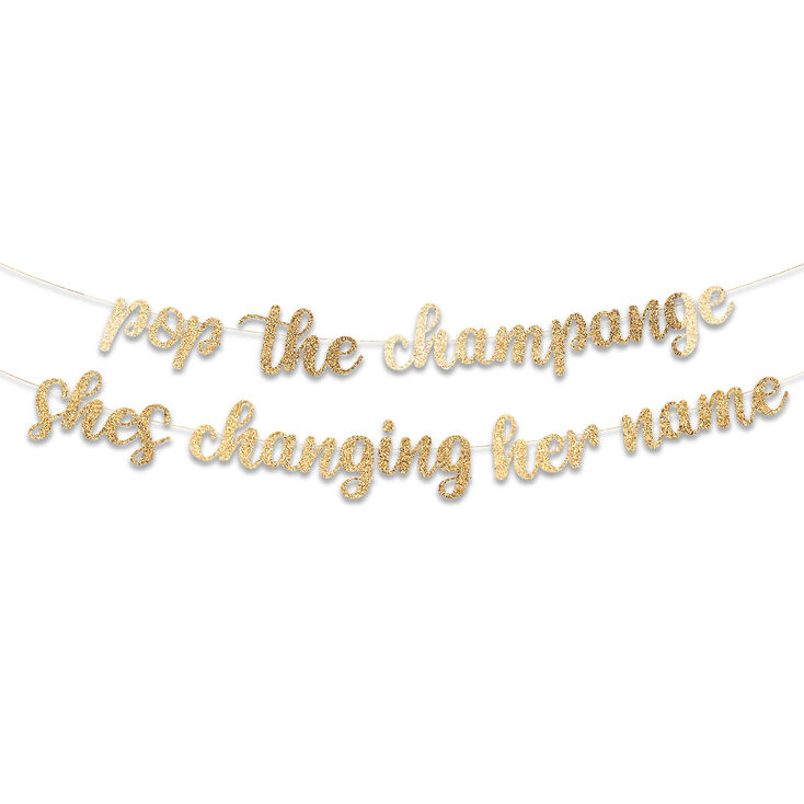 Pop The Champagne Party Banner - Gold,