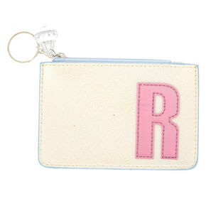 Pearlescent Initial Coin Purse - R,