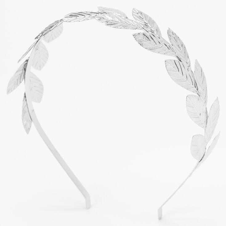 Silver Leaf Headband,