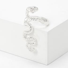 Silver Snake Statement Ring,