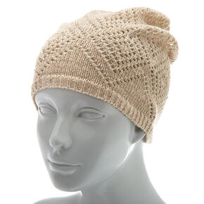 Knit Beanie - Oatmeal,