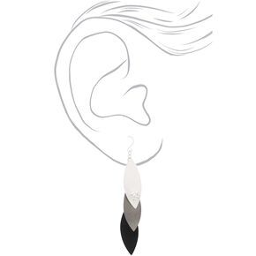 "Mixed Metal 3"" Drop Earrings,"