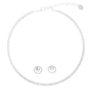 Crystal Choker & Earring Set,