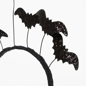 Glitter Bat Headband - Black,