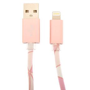 Geometric USB Cord - Pink,