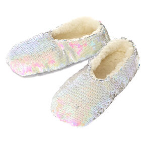Holographic Reverse Sequin Slipper,