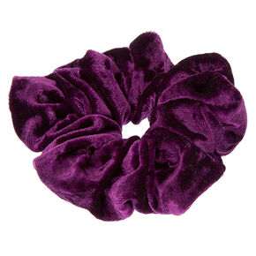 Medium Velvet Hair Scrunchie - Purple,