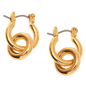 Gold 15MM Tube Hoop Earrings,