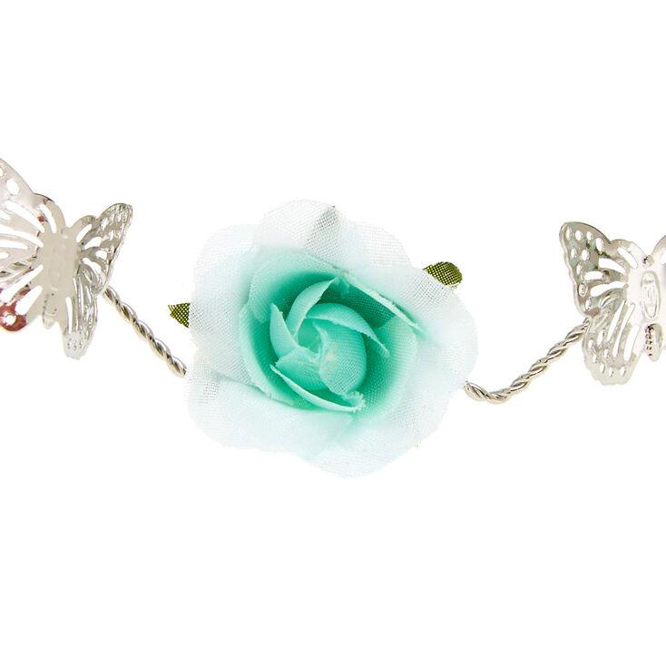 Mint Flower Silver Flower Crown,