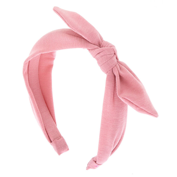 Knotted Bow Headband - Light Rose,