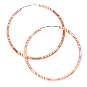Rose Gold 25MM Hoop Earrings,