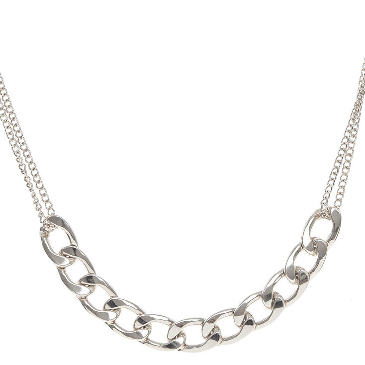 Silver Glam Chain Necklace,