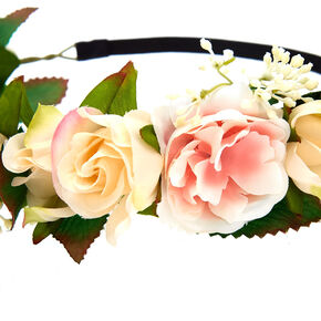 White Stretch Flower Crown,