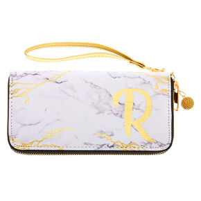 Marble Initial Wristlet - R,