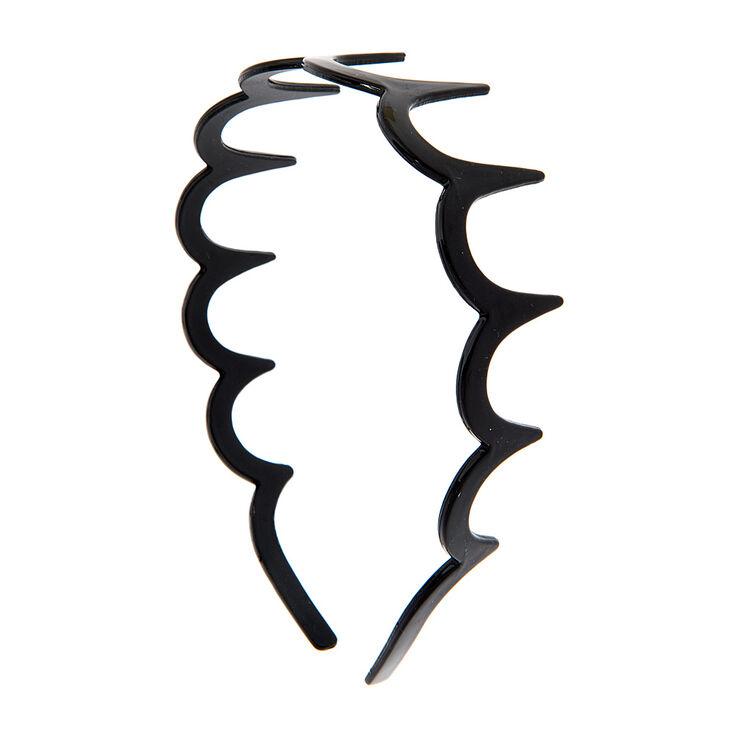 Black Scalloped Headband,