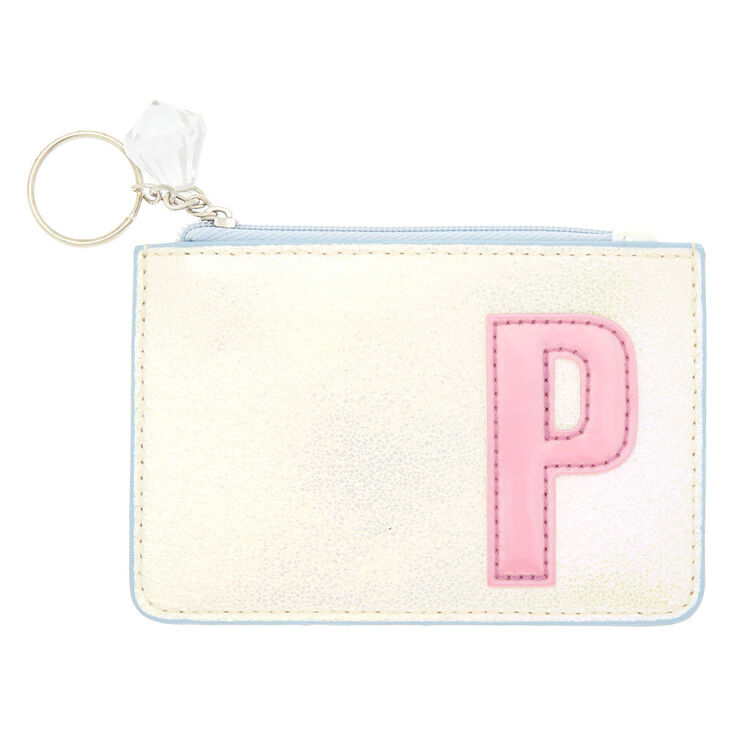Pearlescent Initial Coin Purse - P,