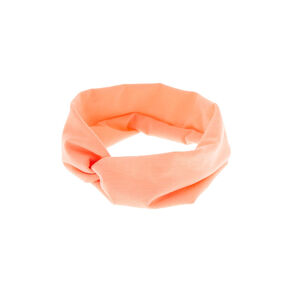 Wide Jersey Headwrap - Coral,