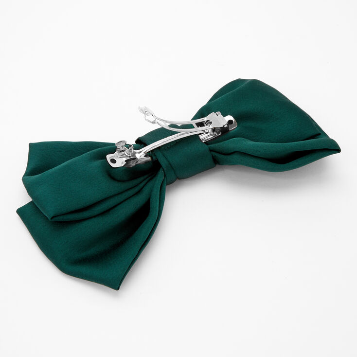 Large Hair Bow Clip - Emerald,