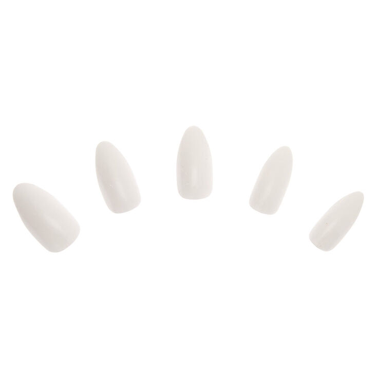 Glossy Stiletto Faux Nail Set - White, 24 Pack,