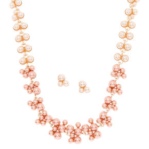 Pearl Ombre Jewelry Set - Pink, 2 Pack,
