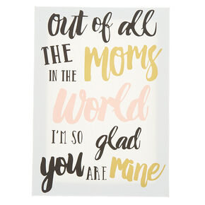 Out of All the Moms Wall Art Canvas - White,