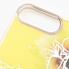 Yellow Floral Phone Case - Fits iPhone 6/7/8 SE,