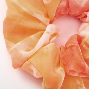 Medium Sunset Tie Dye Chiffon Hair Scrunchie,