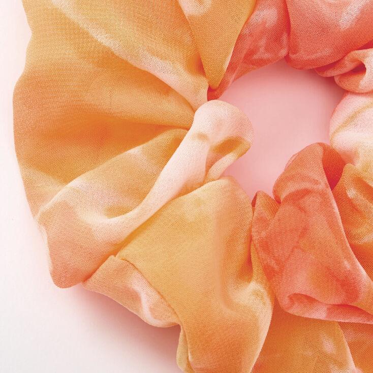 Medium Sunset Tie Dye Chiffon Hair Scrunchie,