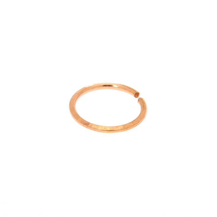 Sterling Silver Rose Gold 20g Lazer Cut Hoop Nose Ring Icing Us