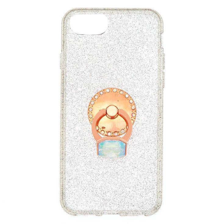 Aurora Borealis Stone Ring Stand Phone Case - Fits iPhone 6/7/8 Plus,
