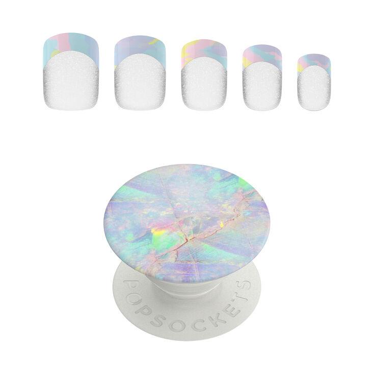PopSockets PopGrip & Press On Faux Nail Set - Opal,