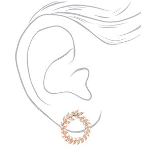 Rose Gold Rhinestone Wreath Stud Earrings,